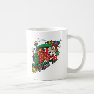 Santa Clause coming to town on his Locomotive Coffee Mug