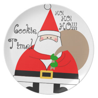 Santa Clause Cookie Plate