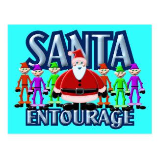 Santa Clause Elf Entourage Design Postcard