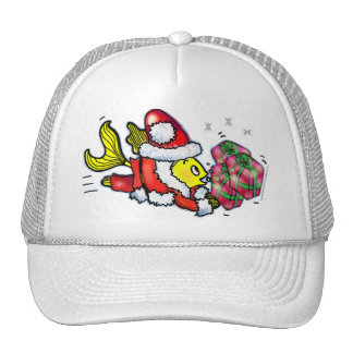 Santa Clause Fish - funny Christmas T-shirt Trucker Hat