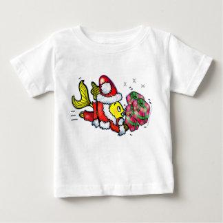 Santa Clause Fish - funny cute Christmas Baby Tee