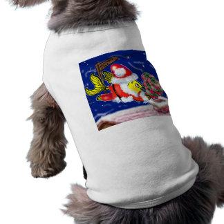 Santa Clause Fish - funny cute Christmas comics Pet Tshirt