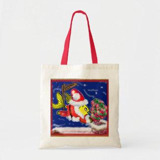 Santa Clause Fish - funny cute Christmas comics Tote Bag