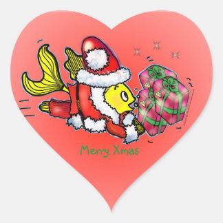 Santa Clause Fish - funny cute Christmas Sticker