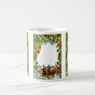 Santa clause frame mug