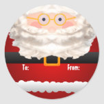 Santa Clause Gift Tag Sticker