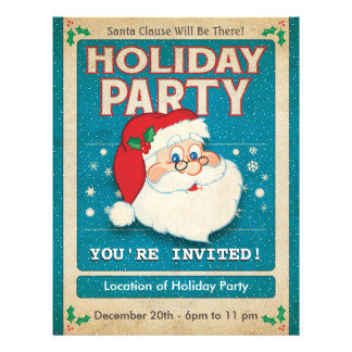 Santa Clause Holiday Party Flyer