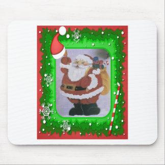 santa clause mouse pad
