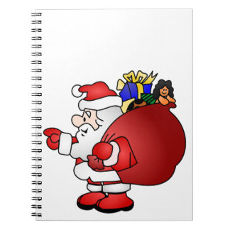 Santa Clause Spiral Note Books