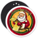 Santa Clause Pinback Buttons