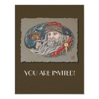 Santa Clause & Pipe Card