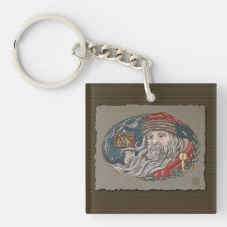 Santa Clause & Pipe Keychain