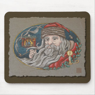 Santa Clause & Pipe Mouse Pad
