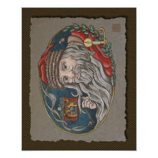 Santa Clause & Pipe Posters