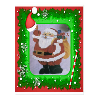 santa clause postcard