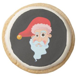 Santa Clause Round Shortbread Cookie