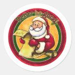 Santa Clause Round Stickers