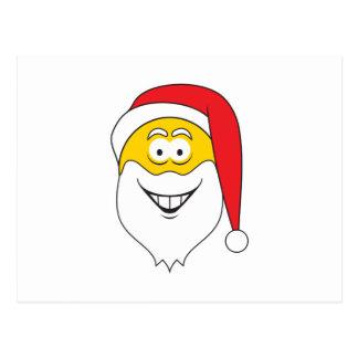 Santa Clause Smiley Face Postcard