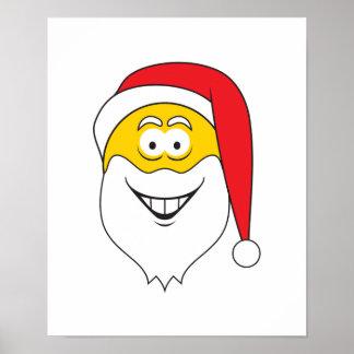 Santa Clause Smiley Face Print