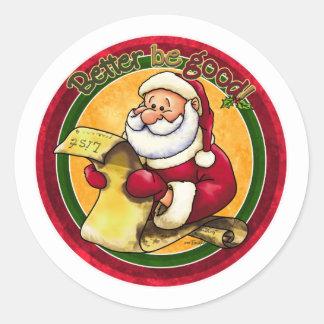 Santa Clause Classic Round Sticker