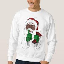 Santa Clause Sweatshirt Black Santa Sweatshirts