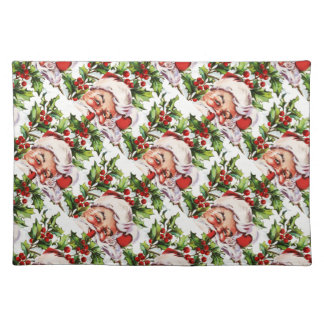 Santa Clause vintage Father Christmas Cloth Placemat