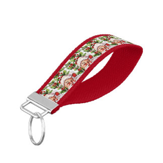 Santa Clause vintage Father Christmas Wrist Keychain