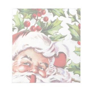 Santa clause vintage holly elegant notepad
