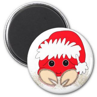 Santa Claws 2 Inch Round Magnet