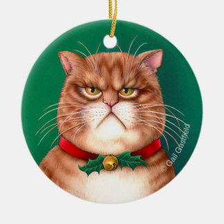 Santa Claws Cat Oornament Ceramic Ornament