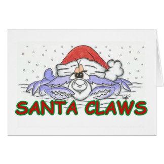 Santa CLAWS Christmas Crab Card