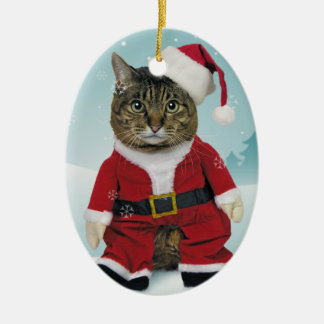 Santa Claws Christmas Ornament