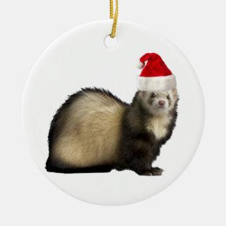 Santa Claws Ferret ornament