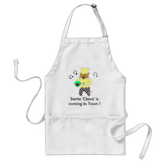 Santa 'Claws' is coming t... Adult Apron