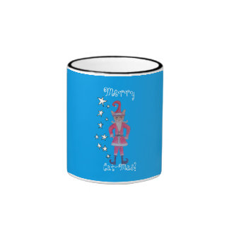 Santa Claws of Cat-Mas Town Ringer Mug