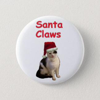 Santa Claws Pinback Button