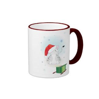Santa Claws Ringer Mug