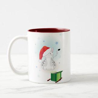 Santa Claws Two-Tone Coffee Mug