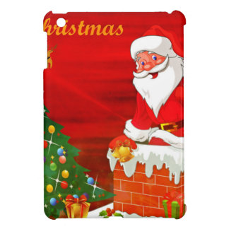 Santa Climbing Down The Chimney Cover For The iPad Mini