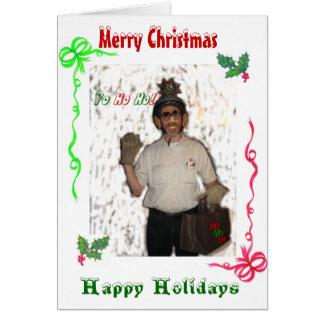 Santa Clod Merry Christmas Card