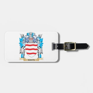 Santa Coat of Arms - Family Crest Travel Bag Tag