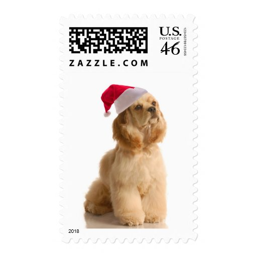 Santa Cocker Postage Stamps