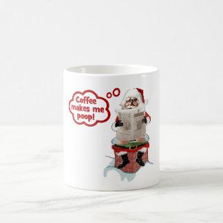Santa - Coffee Makes Me Poop Funny Christmas Mugs
