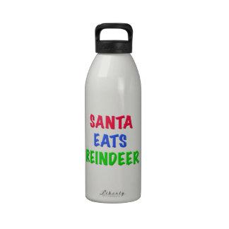 Santa come el reno botellas de agua reutilizables
