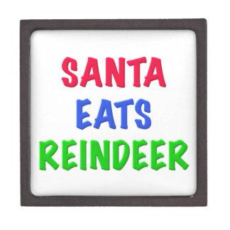 Santa come el reno cajas de joyas de calidad