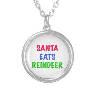 Santa come el reno pendientes personalizados