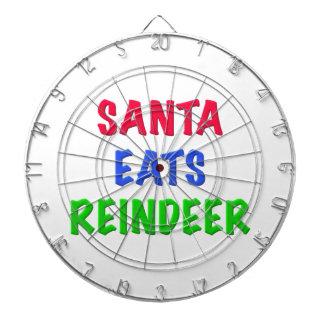 Santa come el reno tablero dardos