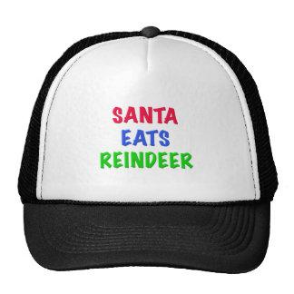 Santa come el reno gorro de camionero