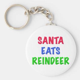 Santa come el reno llaveros personalizados
