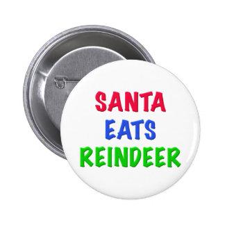 Santa come el reno pin